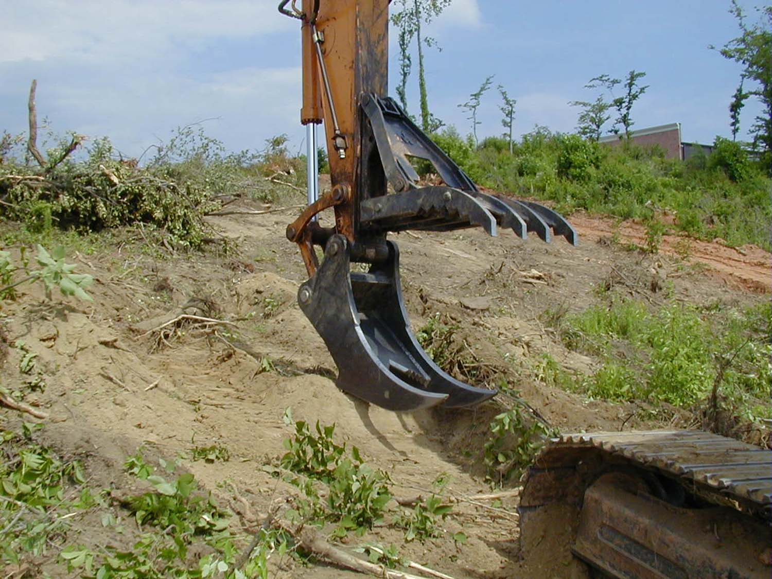 Excavator Stumper with Rake