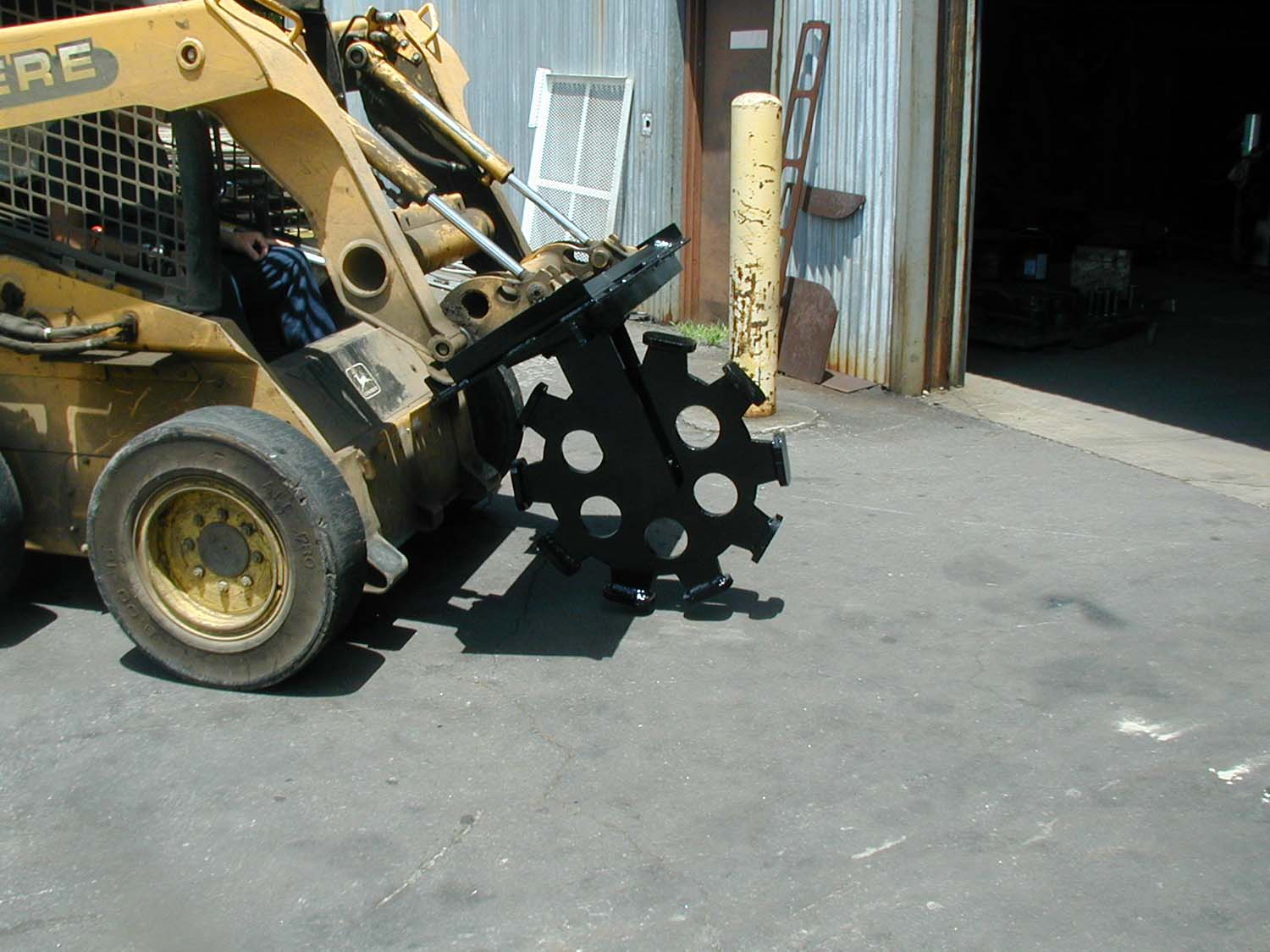 Compaction Wheel For Skid Steer